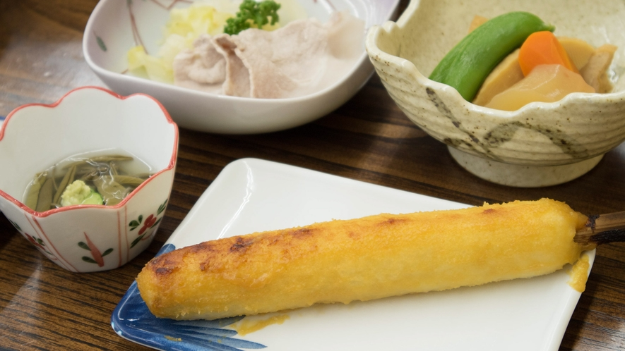 *【ご夕食一例】秋田の郷土料理をアレンジ♪当館名物のみそたんぽ