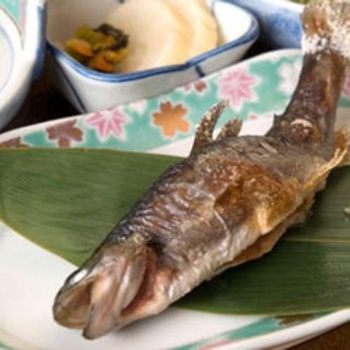 *お料理一例(岩魚塩焼き)