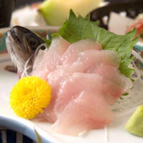 *お料理一例(岩魚の刺身)