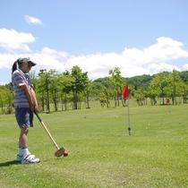 【グラウンドゴルフ】初心者から上級者まで楽しめる、公認5コース40ホール、特設2コース16ホール。