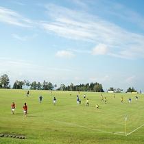 【グラウンド】地面は全て天然芝!サッカー、ソフト、ゲートボールなど様々なスポーツにご利用可能。
