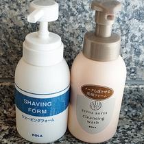 【浴室アメニティ(一例)】洗顔フォームやシェービングクリームなどもございます。