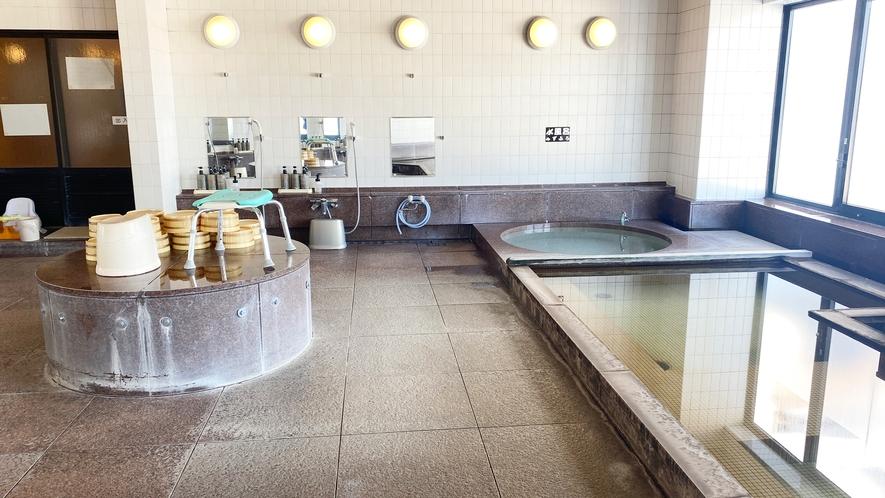 【≪本館≫大浴場(3F)】3Fにはサウナのほか、7Fにはない「水風呂」もございます。