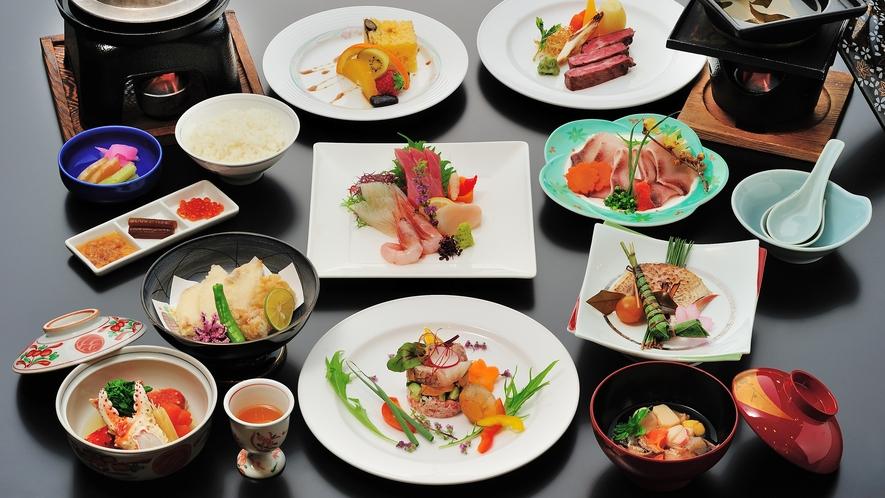 【夕食】和食会席≪特上≫/芍薬コース(冬)一例