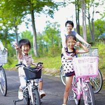 *【サイクリング】コースの全長は2,600m!草木やそよ風を感じながらツーリングをお楽しみください。