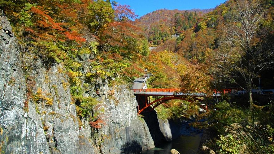 【秋山郷/前倉橋(車で50分)』≪紅葉見頃:10月中旬~11月初旬≫