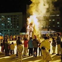 *【どんど焼き】正月飾りなどを焼き上げる行事で、持参もOK!甘酒+お餅+スルメのふるまいもあります。