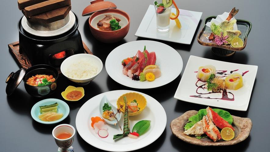 【夕食】和食会席≪上≫/牡丹コース(冬)一例