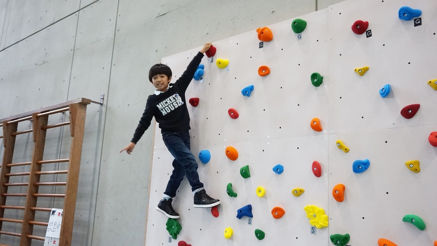 【体育館(通年)】新たに「ボルダリング」も仲間入り!