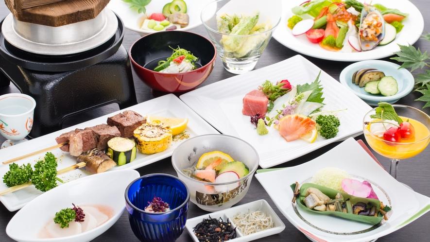 【夕食】和食会席≪特上≫/芍薬コース(夏)一例