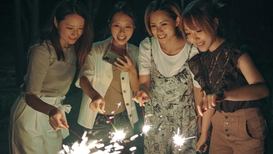 【花火コーナー(夏季限定)】手持ち花火をお楽しみいただけます♪