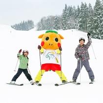 *【ぐりぐり×スキー場】「ぐりぐり」は子供が大好き!ゲレンデで見かけたら気軽に声をかけてみてね☆