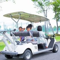【ランドカー】広い敷地はランドカーでの移動がオススメ♪最大4人まで一緒に乗車できます。