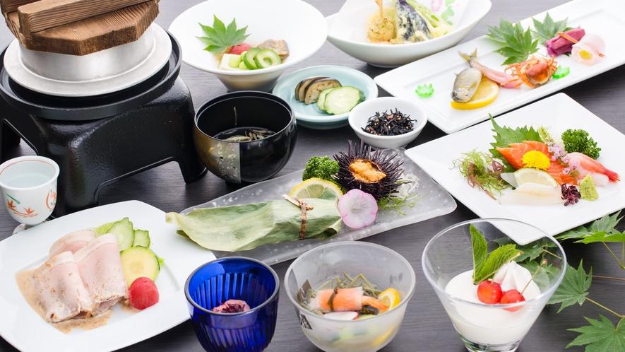 【夕食】和食会席≪上≫/牡丹コース(夏)一例