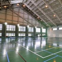 【体育館(通年)】バレー・バドミントン・卓球・ゲートボールなど幅広くご利用いただけます。