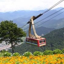 【湯沢高原ロープウェイ】花々を愛でながら、湯沢の街を見下ろす空中体験♪