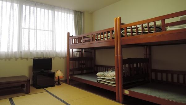 3階和室7.5畳【トイレ付/2段ベッド×2/定員:6名様】