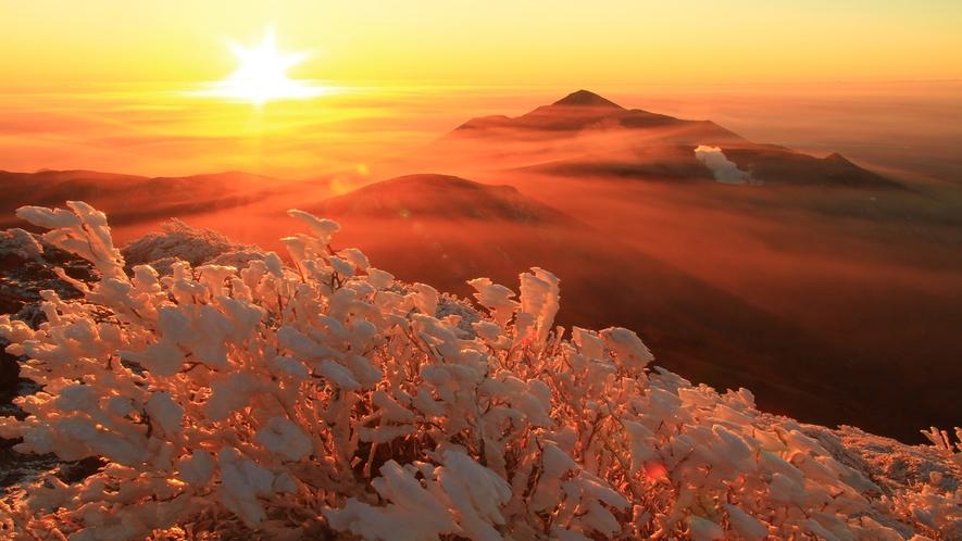 冬の霧島連山