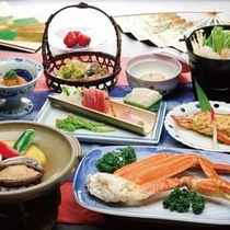 海の幸豊富な夕食(イメージ)