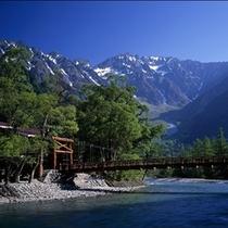 夏の上高地(河童橋)
