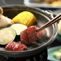 ■信州牛の陶板焼き お好みの焼き加減で