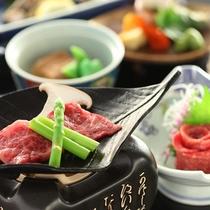■【スタンダード懐石】信州牛のステーキと馬刺し付き。信州の味をご堪能いただけます。