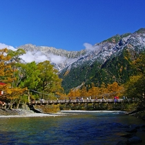 ■【秋の上高地】河童橋から楽しむ秋の景色