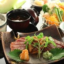 ■【信州牛ステーキ御膳】ガッツリお肉を食べたい方に。