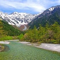 ■【春の上高地】雄大な山々の景色
