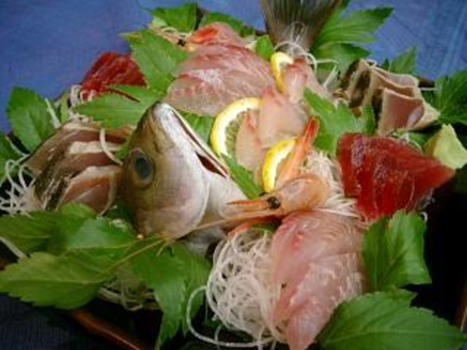 伊豆の海の幸満喫!オーナーシェフが作るコースディナーに新鮮お刺身盛り合わせ付き