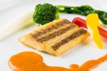 欧風創作コースの夕食一例 ~魚料理~