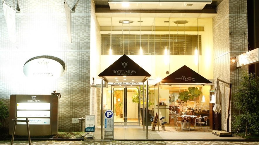 HOTEL MIWA外観(夜景)