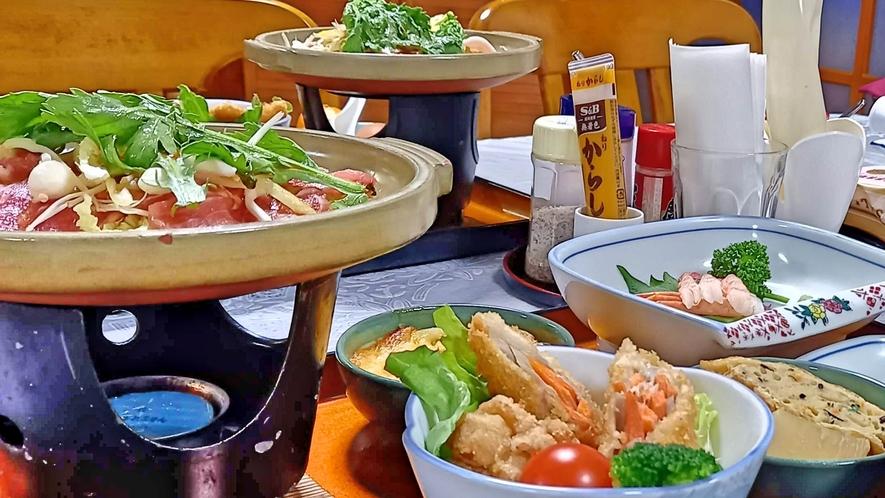 夕食例 すき焼き鍋