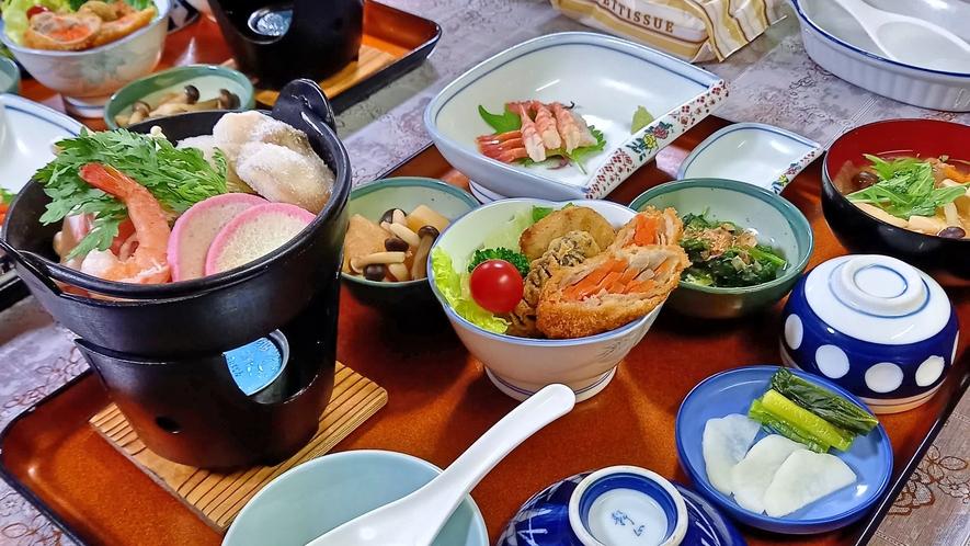 夕食例 海鮮鍋