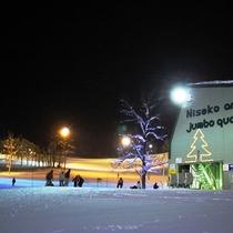 ニセコアンヌプリ国際スキー場(夜)