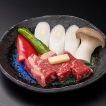 ★柔らかなステーキを「松本一本ねぎ」とご一緒に