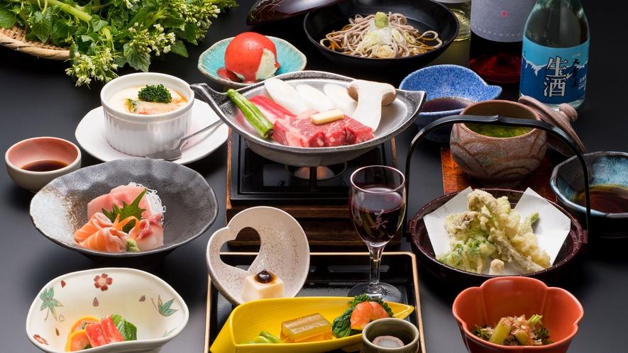 地元の食材が味わえる和食会席(メニュー例)
