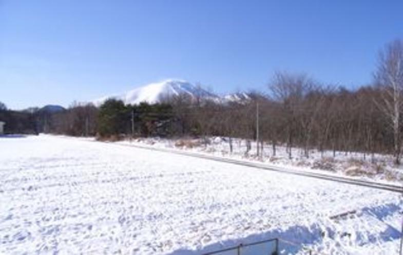 真冬の浅間山