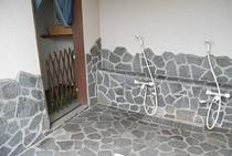 露天風外風呂〜洗い場シャワー