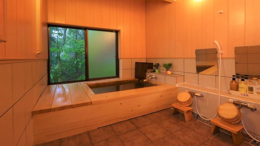 ・【ラジウム温泉の展望風呂】広々としたお風呂になっております