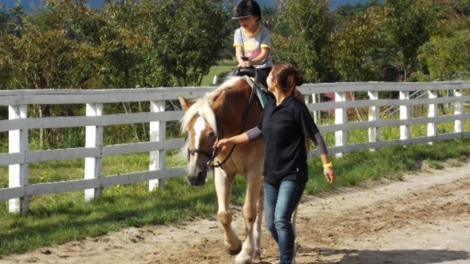 ファミリー旅行におすすめ!【本館】蒜山ホースパーク引き馬体験チケット付きプラン
