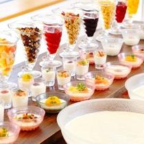 【本館】朝食ビュッフェは人気のヨーグルトバー