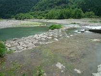 近くに流れる矢田川、散歩にいかがでしょうか。