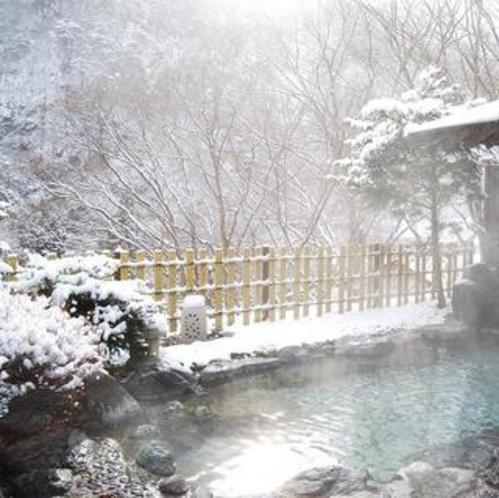 冬の露天風呂3