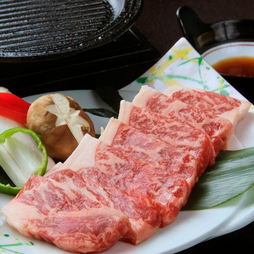 香ばしい上州牛ステーキ