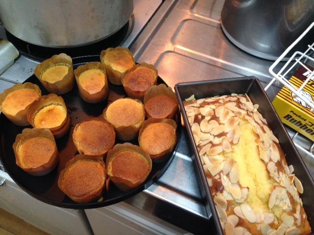 料理体験パウンドケーキなど