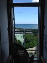 宿2階からの景色
