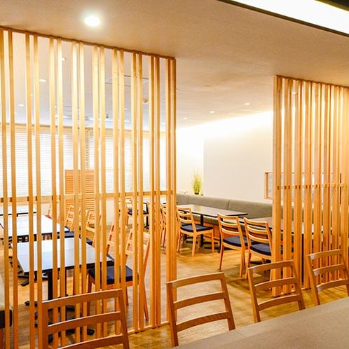 【食事処】椅子席や座敷・カウンターなど様々なお席をご用意しております。