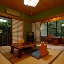 2階和室アカシア/広縁+ウッドテラス(洗面室、洗い場付きバス・トイレ別)
