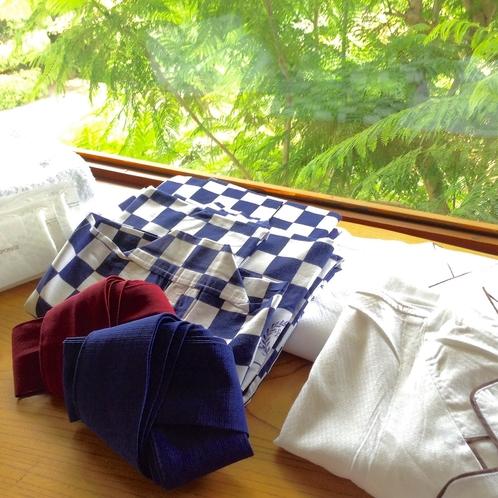 【洋室・アメニティ】浴衣 ナイトウェア バスタオル タオル